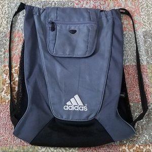 adidas Gray/Grey/Black Drawstring Backpack